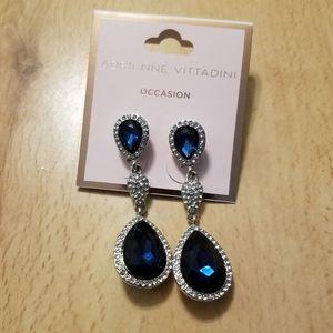Adrienne Vittadini sapphire teardrop post earrings